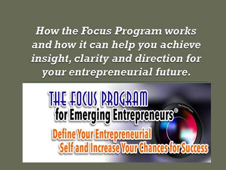 How The Focus Program Works